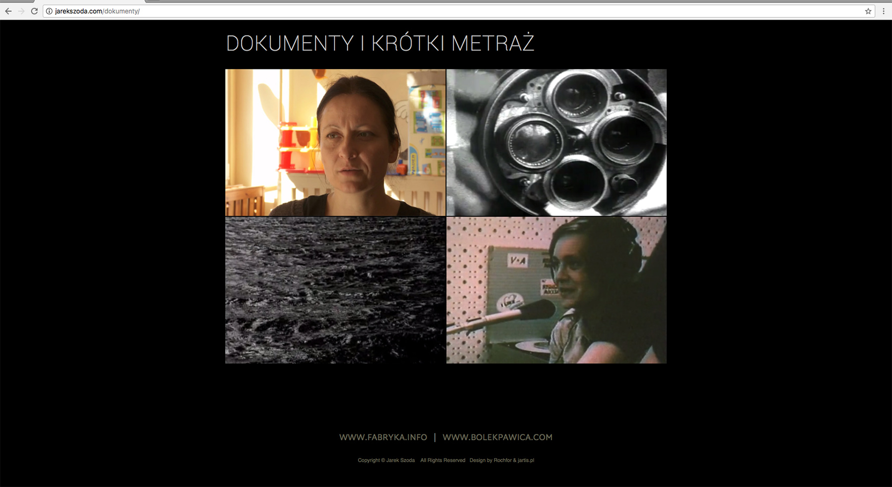 strona internetowa wykonana dla Jarka Szoda (2016)